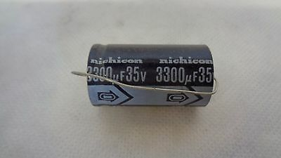 NICHICON 3300uF 35V 20/% POLARIZED AXIAL CAPACITORS 10
