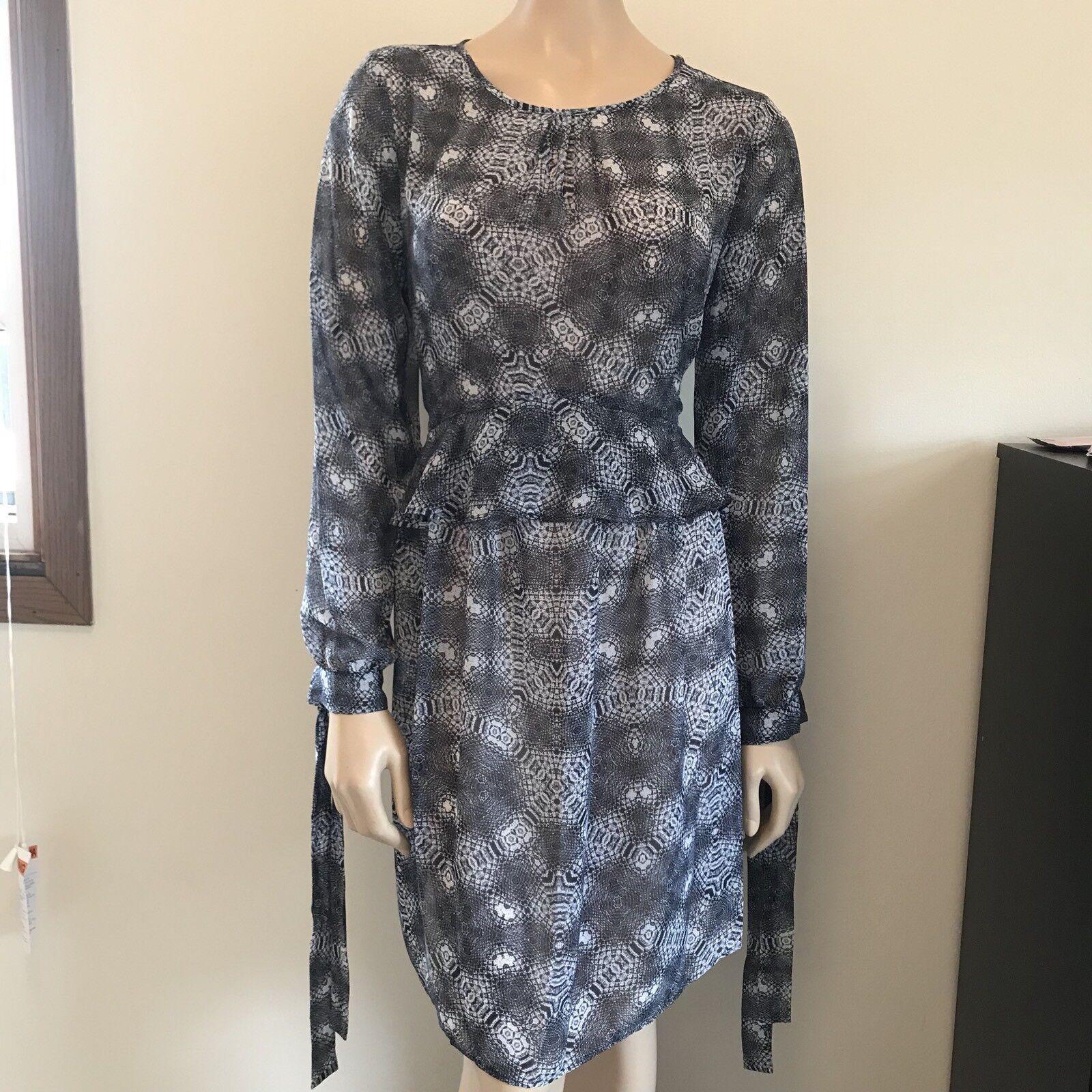 d5662811 damen Sam Edelman Größe 12 Long Sleeve Dress Blau Snakeskin New with Tags