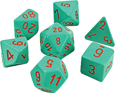 CHX30039 Chessex Manufacturing Lab Dice 4 Heavy 7 Poly Turquoise//Orange
