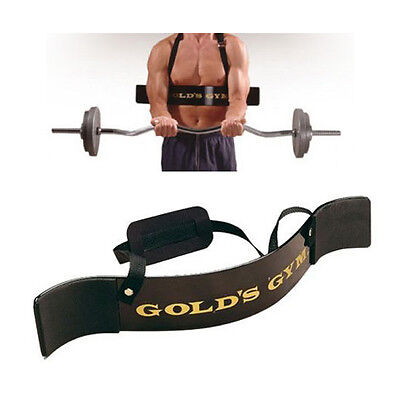 Bicep Isolator Arm Blaster Weight Lifting Straps Training Workout Barbell Bar