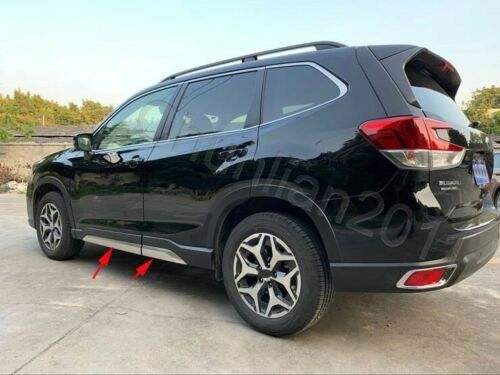 Steel Body Door Sill Side Molding Cover Trim for 2019 Subaru Forester 4PCS