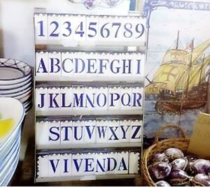 Image Is Loading Portuguese Glazed Ceramic House Numbers And Letters Tile