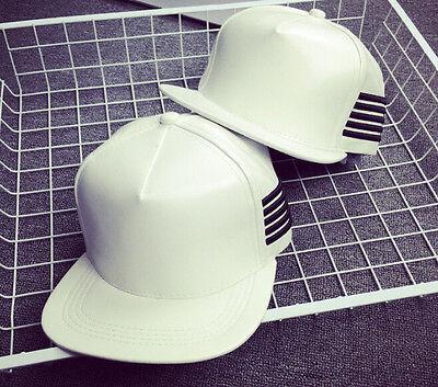 2017 KPOP New Hot Bigbang G-dragon GD Same Style Cap Snapback Leather hat White