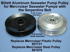 NIB Mercruiser 5.0L 5.7L V8 GM Pulley Raw Water Pump w//Serpentine 807731 807731T