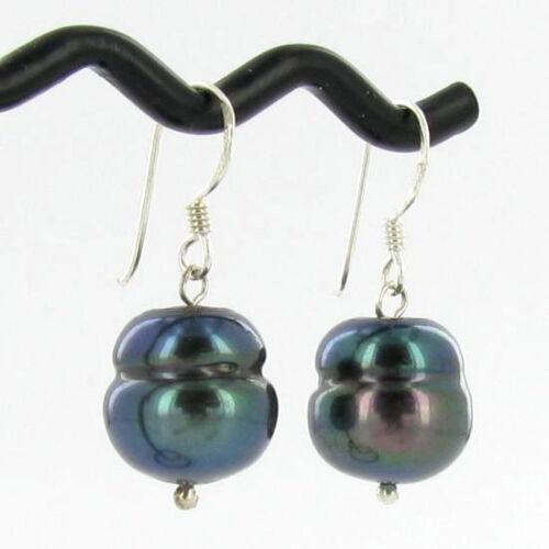 Saltwater baroque perle noire Boucles d/'oreilles 9 mm HNE appr 680 $
