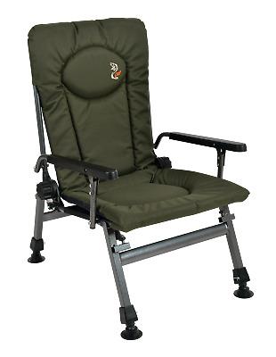Carp Angelstuhl Campingstuhl F5R ST Stuhl Deluxe Angler Tisch mit extra Höhe