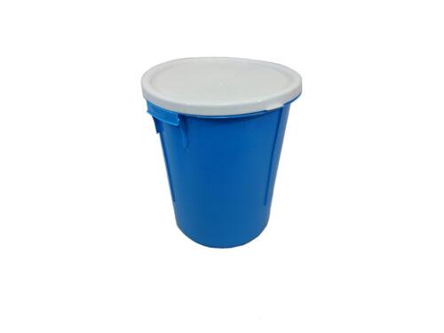 BLUE 25L STORAGE BUCKET / NAPPY BIN WITH LID