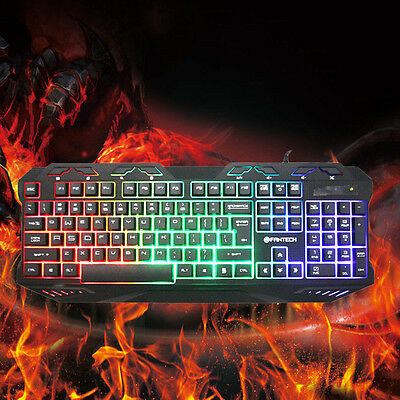 K10 Backlight Gaming Pro Mechanical Keyboard Blue Switches Metal Wired USB TB