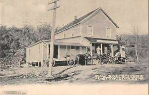 Bridgeville New York Sullivan Co Post Office Antique Postcard J44261