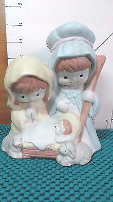 Nativity,Night Light Base, Joseph-Mary-Baby, Christmas Religious Collectible
