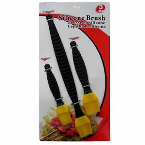 3Pc-SILICONE-BRUSH-SET-PASTRY-BBQ-COOKING-New-Fast-FREE-USA-S-amp-H