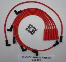 1992-2003 DODGE DAKOTA MAGNUM RED 3.9L 239 V6 6 Cylinder 8.5mm Spark Plug Wires