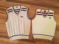 1989 Fila Becker Borg And 2017 Vollaix Tennis Sweater Vest Lot