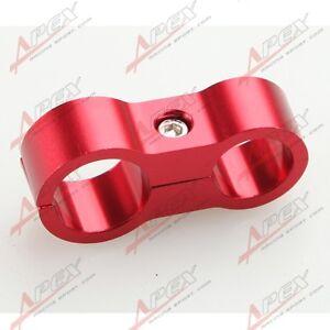 Schlauchhalter-AN4-4AN-11-9mm-Zu-AN-8-8AN-17mm-Stahlflexschlauch-Alu-Rot