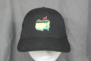 291659231fd Image is loading Vtg-Masters-Caddy-Hat-Black-Undated-Golf-Strapback-