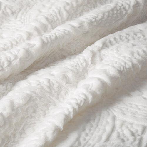 ~ COZY ULTRA SOFT /& PLUSH FUR MODERN CHIC TEXTURE IVORY WHITE COMFORTER SET NEW