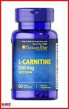 Puritan's Pride L-Carnitine, 500 mg, 60 Capsules