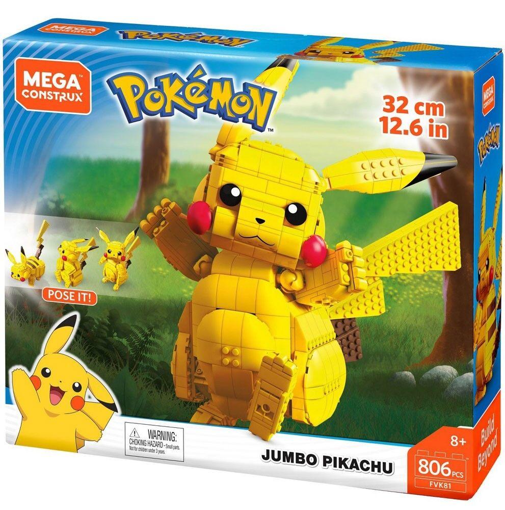 Mega Bloks Pokemon Mega Construx Jumbo Pikachu Conjunto de 12 pulgadas