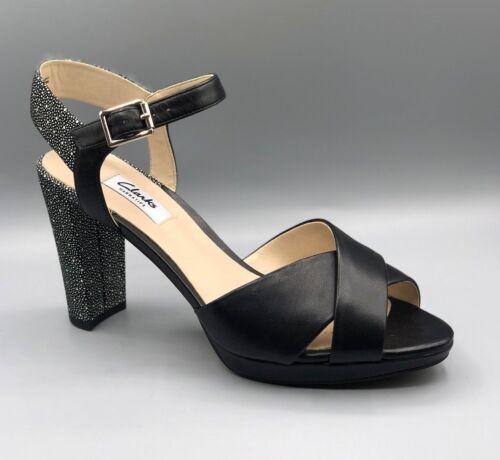 mujer kendra sandalias Petal 5 cuero negro para Petal D Uk 7 de de tacón alto Nuevas kendra Z8pw8