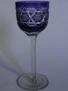 Symbole De La Marque Un Ancien Verre A Vin Du Rhin De Couleur Violet Roemer En Cristal Ht 19,5 Cm