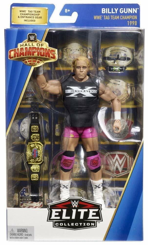 Mattel GIOCATTOLI WWE Htutti of Champions Elite 1998 BILLY GUNN degenerazione x 6 in