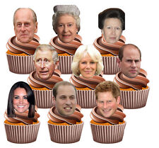 Queens 90th Birthday The Royal Family Party Pack 36 Edible Fun Cup Cake Toppers