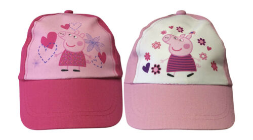 Authentic Summer Cap Hat Light Pink Peppa Pig Dark Pink Age 3-6 Years