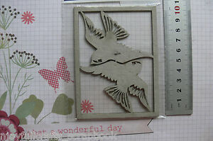 BIRDS-x-2-55x60mm-each-DieCut-from-Chipboard-Frame-82x112mm-Fab-Scraps-GH