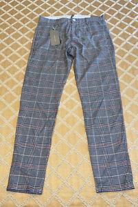 Nuevo Con Etiquetas Zara Man Entallada Azul Pantalones A Cuadros Para Hombre Talla 31 De Ee Uu Ebay