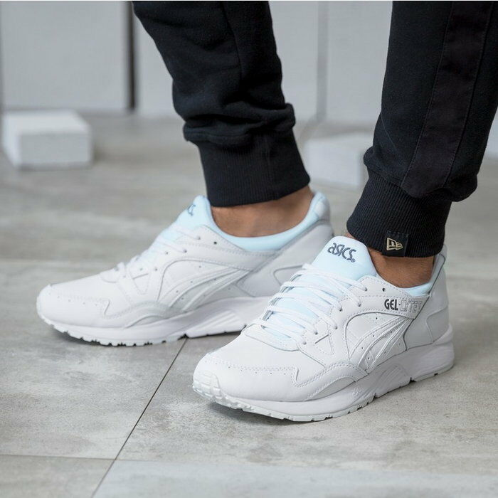 ASICS GEL LYTE V CORE PACK  ALL WHITE  MENS TRAINERS