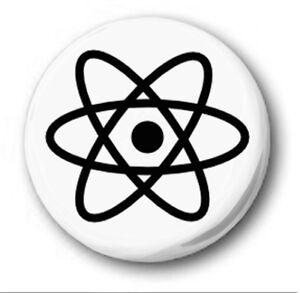 Atom Symbol 25mm 1 Button Badge Novelty Cute Big Bang Theory