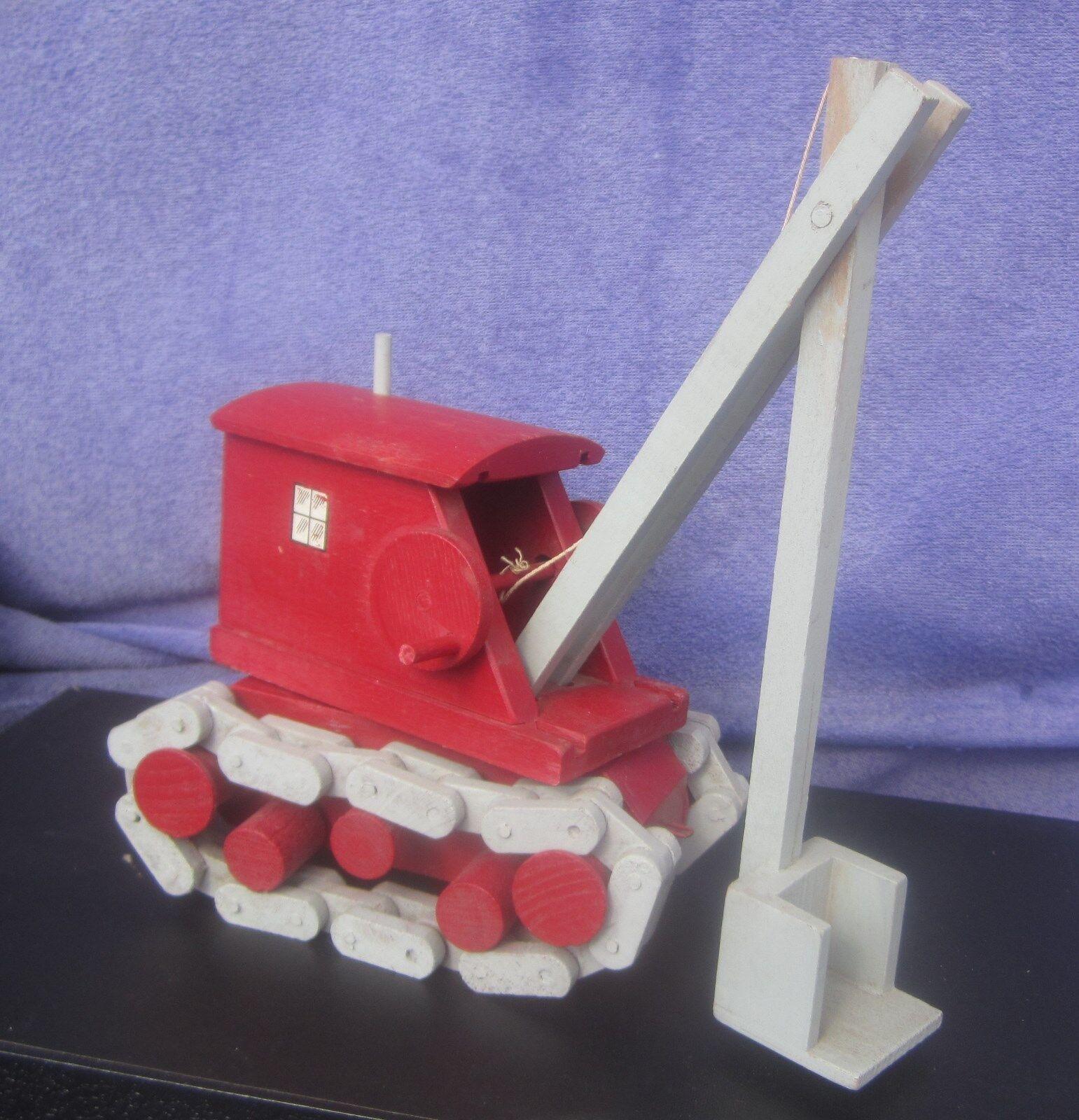 Vintage All Wood Steam Shovel World War 2 Toy