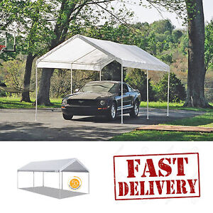 Image is loading Caravan-Canopy-Carport-10x20-039-Water-Resistant-Portable- & Caravan Canopy Carport 10x20u0027 Water Resistant Portable Garage ...