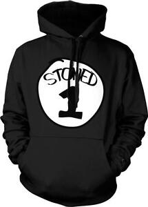 Stoned 3 Three Parody Funny Humor Pot Weed Marijuana 420 Ganja Hoodie Pullover
