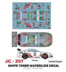 Jc 9207 White Toner Waterslide Decals For Custom 1 64 Diecast Cars Ebay