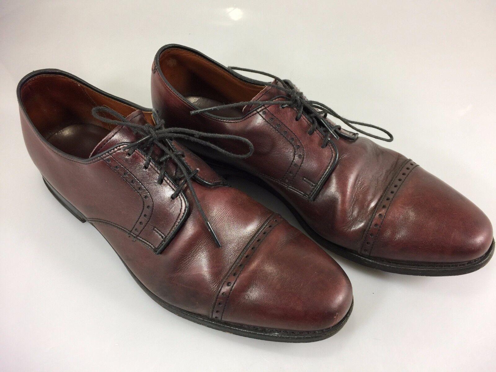 Zapatos De Cuero Allen Edmonds Clifton Marrón para Hombre 11 D Cap Toe Oxford Vestido