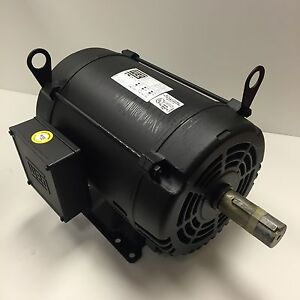 Weg 10 hp 1800 rpm odp 200 volts 215t 3 phase motor new for 10 hp 3 phase motor