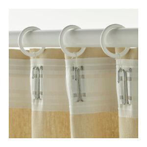 Anelli Per Tende Ikea.Ikea Syrlig Anello Per Tende Con Clip E Gancio Bianco Ebay