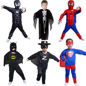 superheld spiderman kost me kleidung kinder jungen m dchen cosplay outfits set ebay. Black Bedroom Furniture Sets. Home Design Ideas