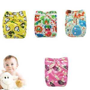 Adjustable-Diaper-Cover-Reusable-PUL-Double-Gussets-Cloth-Nappy-Fit-6-11kgs