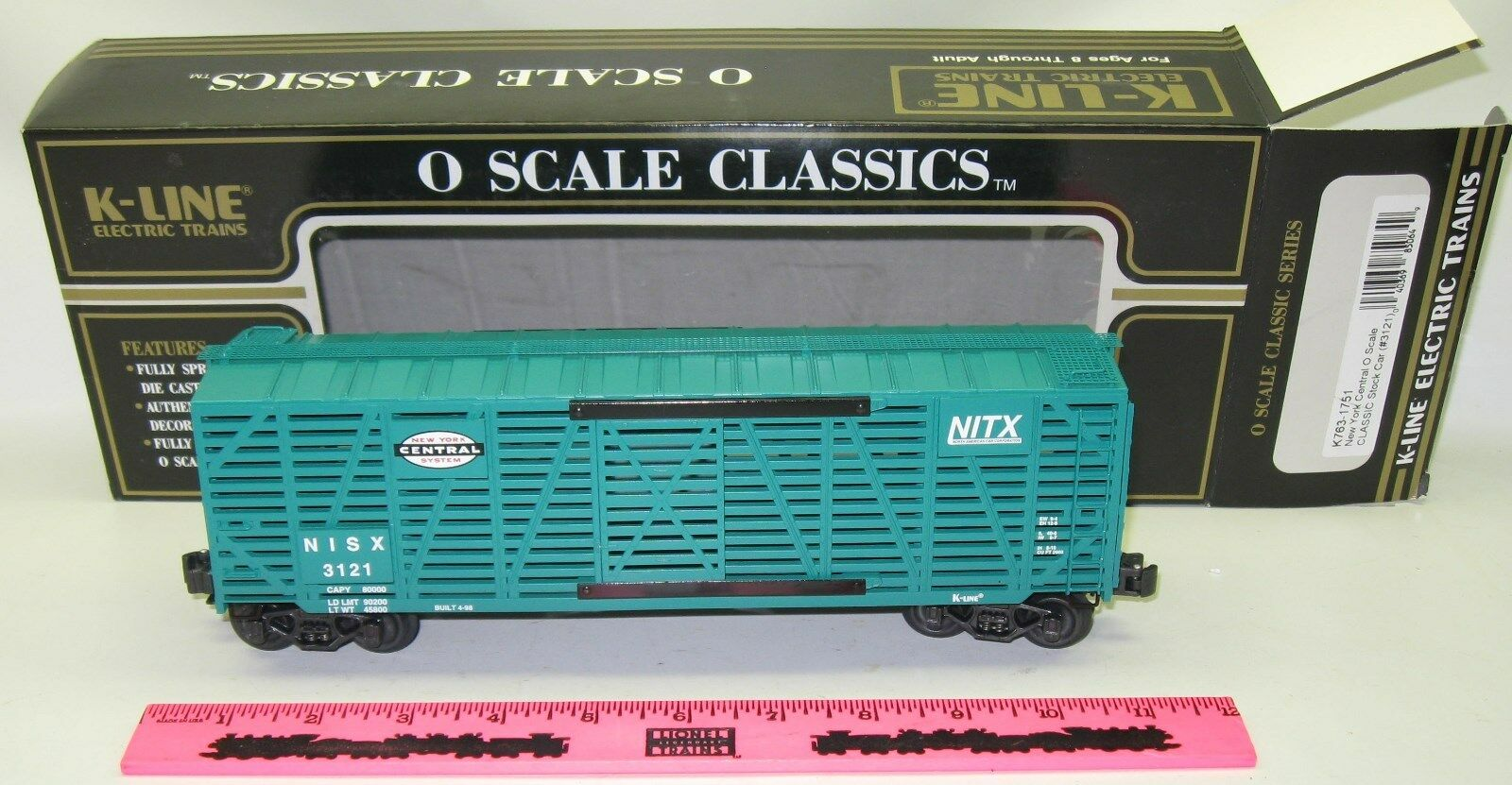 New K-Line K763-1751 New York Central O scale classic Modern boxcar ()