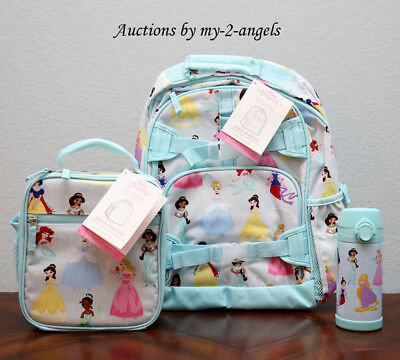 New Pottery Barn Kids Disney Princess Large Backpack Lunch
