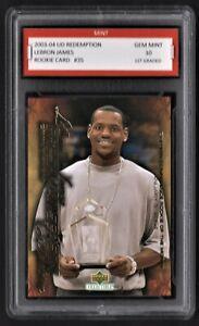 2003-04-LeBron-LaBron-James-Upper-Deck-UD-Redemption-Rookie-1st-Graded-10-Card