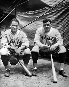 Lou-Gehrig-Babe-Ruth-New-York-Yankees-UNSIGNED-8x10-Photo-C