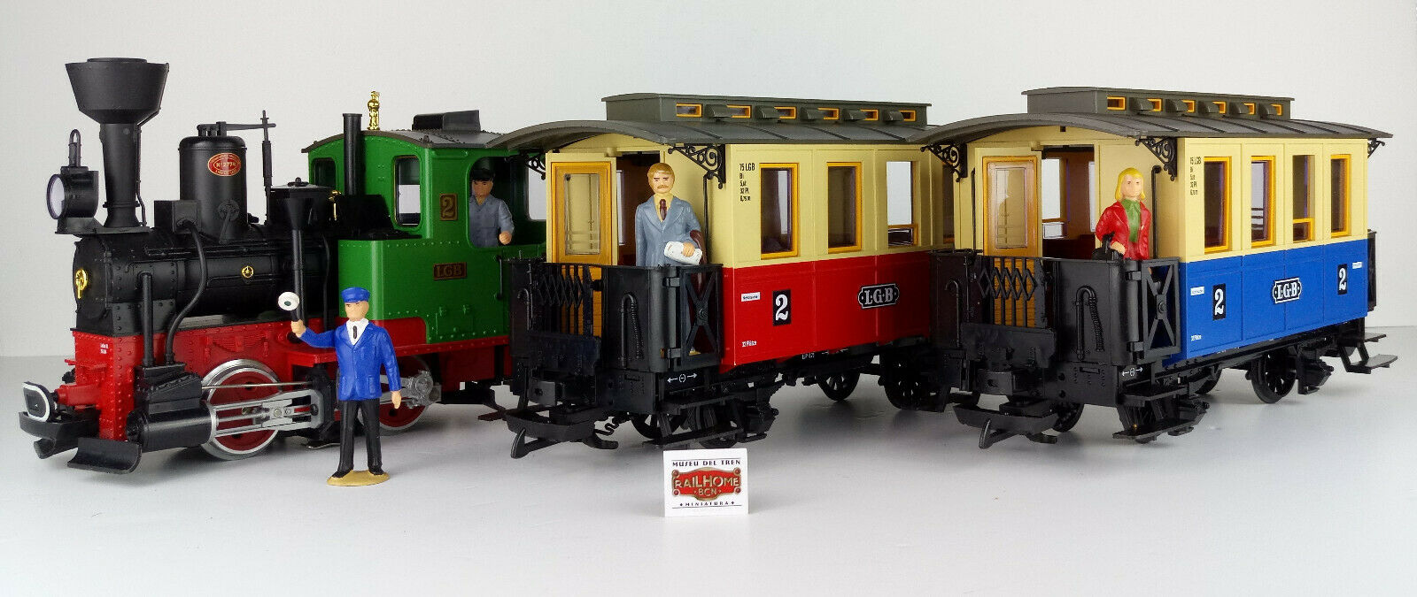 LGB 70302 Set-Steam Locomotive-Like New  - OVP-Top