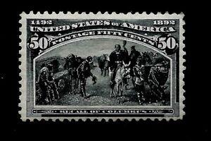 US-1893-Sc-240-50-c-Recall-of-COLUMBUS-Mint-RG-HR-Vivid-Color-Centered