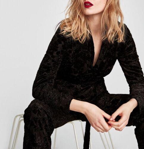 Kimono S Devoré Belted Velvet Shimmery Samt Jacke Blazer Gürtel Jacket Zara M L x4qCBZx