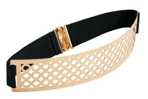 Cintura con strecheinsatz Heine goldfb//nero TG S//M NUOVO!!!