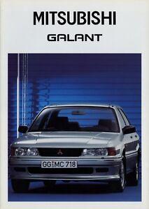 Mitsubishi-Galant-Prospekt-3-88-1988-Autoprospekt-Broschuere-brochure-brosjyre