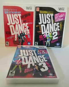 Just Dance 1 2 3 Nintendo Wii Set 3 Game Bundle Guaranteed Party Fun!